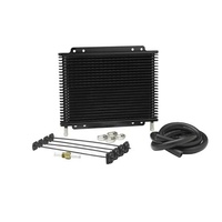Heavy Duty Plate & Fin Universal Auto Trans/Oil Cooler Kit 19x280x176mm 3/8 Barb