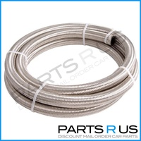 Aeroflow AN-10 Fuel/Oil/Water 100 Series Stainless Steel Braided Hose 1 Meter 1m