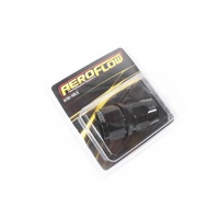 Black Aeroflow 550 Series -16AN Straight Cutter Style Full Flow Braided Hose End
