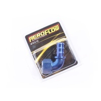Blue Aeroflow 510 Series -12AN 90 Degree Push Lock On Full Flow Rubber Hose End