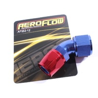 Blue Aeroflow 550 Series -12AN 45deg Cutter Style Full Flow Braided Hose End
