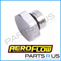 Aeroflow Performance -6AN/ORB Port/Block Off Plug AF814-06 Silver Hex Head