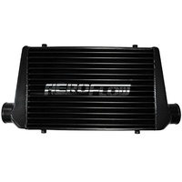 "Universal Turbo Front Mount Black Intercooler 3"" 600x300x76mm FMIC EVO WRX STi"