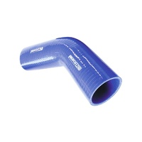 "AeroFlow AF9002-350 45deg Elbow (145mm Leg) Silicone Hose - 3.50"" (88mm) Blue"
