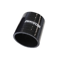 "AeroFlow AF9201-275 Straight (3""/75mm Long) Silicone Hose - 2.75"" (70mm) Black"