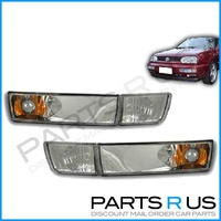 Volkswagen Golf VW MK3 Chrome Altezza Indicator & Fog Lights Set 94 95 96 97 98