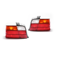 BMW E36 3 Series 91-98 4Door Sedan Red Amber Clear LHRH Set Tail Light Lamps TYC