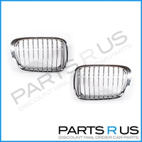 BMW 3 Series E46 98-01 4Door Sedan Chrome LH+RH Set Front Grilles A/M