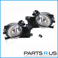BMW E39 5 Series Spot Lights Clear Fog Lamps + Bulbs 525i 530i 535i 540i 01-03
