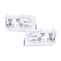 Mercedes Benz C Class W201 180E/190E 84-94 Clear LH+RH Pair Of Headlight Lamps
