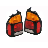 Mitsubishi Challenger PA II 00-04 Amber Red & Clear LH+RH Pair Body Tail Lights