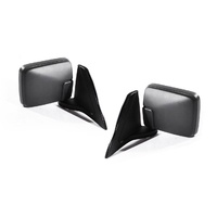 Mitsubishi Triton MK 96-06 Ute Blk Manual LH+RH Set Sail Mount Door Wing Mirrors