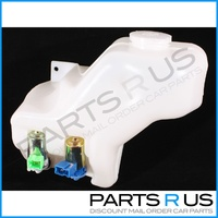 2 Hole Windscreen Washer Fluid Bottle With Pumps / Motors Nissan GQ Patrol 87-97