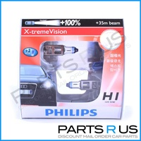 Genuine Philips X-treme Vision +100% H1 Headlight Bulbs BRIGHTER Whitee Globes