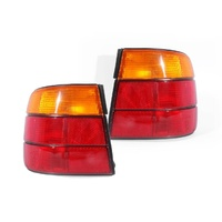 BMW E34 5 Series 88-96 4Door Sedan Red & Amber LH+RH Pair Of Tail Light Lamps