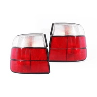 BMW E34 5 Series 88-96 4Door Sedan Red & Clear LH+RH Set Tail Light Lamps Depo