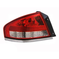 Ford Falcon 05-08 BF Sedan Red & Clear LHS Left Rear Tail Light Lamp A/M