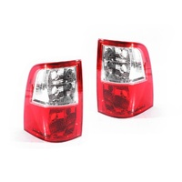 Ford Falcon FG Ute 08-13 Series1&2 Red & Clear LH+RH Set Rear Tail Light Lamps