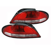Ford EF EL Falcon Fairmont XR Red/Clear Tail Light Pair