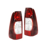 Holden RA Rodeo 06-08 LX & DX Ute Tinted Red & Clear LH+RH Set Tail Light Lamps