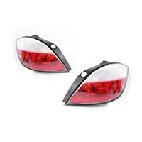 Holden Astra AH 04-07 Ser1 5Door Hatch Red & Frosted LH+RH Set Tail Lights