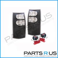 Holden VT VX VU VY VZ Wagon Ute LED Black Altezza Tail Lights Clear 97 98 99 00-