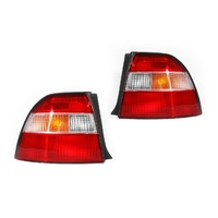 Honda Accord 93-95 CD5 Ser1 Sedan Red & Clear LH+RH Set Tail Light Lamps TYC