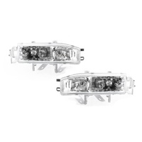 Honda Accord CB Ser2 91-94 4Door Sedan Clear LH+RH Set Headlight Lamps TYC