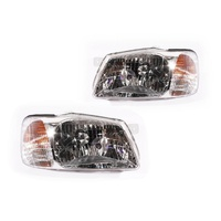 Hyundai Accent 00-03 LC Hatchback & Sedan LH+RH Set Headlight Lamps Genuine