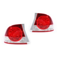 Honda Civic 06-08 FD Series1 Sedan Red & Clear LH+RH Set Tail Light Lamps ADR