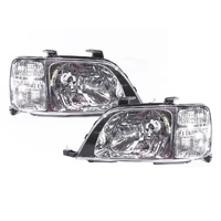 Honda CR-V 4 Door Wagon 97 98 99 00 01 Chrome LH+RH Pair CRV Headlight Lamps