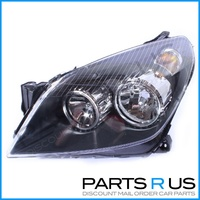Holden AH Astra Black Headlight Lamp 04-09 LHS Left Wagon Hatch & Convertible
