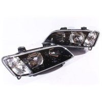 Holden VE Headlights Commodore Omega SV6 SS Berlina Black Pair / Non Projector