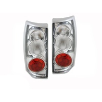 Holden VT VX VU VY VZ Commodore Wagon Ute Altezza Tail Lights Chrome Clear 97-08