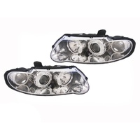 Holden VX VU Commodore Altezza Chrome Headlights Pair 00-02 Exec SS & Ute