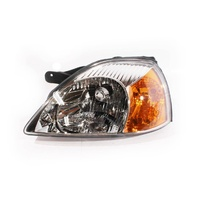 Kia Rio Headlight 02-03 DC Ser1 Sedan & Hatch Clear & Amber LHS Left Lamp ADR