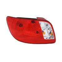 Kia Rio Tail Light  JB 05-11 4Door Sedan Red & Clear LHS Left Lamp