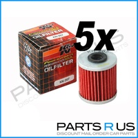 5x Kawasaki KX250F 04-14 K&N Performance Oil Filter 4T Stroke KXF 06 07 08 11 13