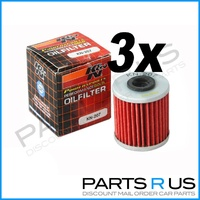 3x Suzuki RMX450 2010-2014 K&N Performance Oil Filter 4T Stroke RM-X 10 11 12 13