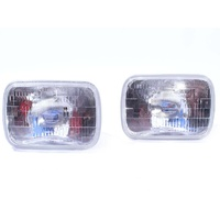New 4000K SEALED Beam Xenon White Headlight Inserts Set H4 Bulbs - 7x5 INCH