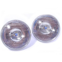 "7"" Inch Round Headlight Set SEALED Beam Universal Head Lamps 4000K Bulbs 100/75W"