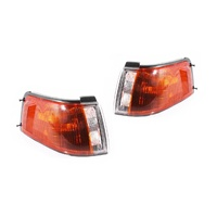 Mazda 323 BG 89-96 4Door Sedan Amber & Clear LH+RH Set Corner Light Lamps TYC