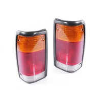 Ford Courier & Mazda Bravo 85-98 Lucid Black Surround LH+RH Set Tail Light Lamps