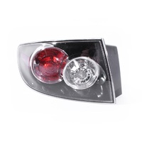 Mazda 3 BK 06-09 4Door Sedan Black Red & Clear LHS Left Tail Light Lamp Depo