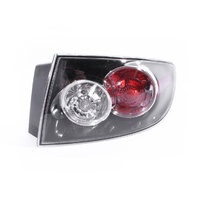 Mazda 3 BK 06 07 08 09 4Door Sedan Black Red & Clear RHS Right Tail Light Lamp