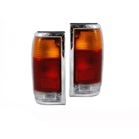 Ford Courier PC PD Mazda Bravo UF B Series 85-98 LHS RHS Tail Light Chrome Pair