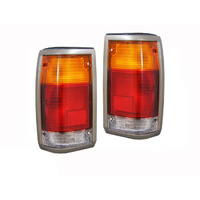 Ford Courier/Mazda Bravo Grey Surround Tail Lights Pair