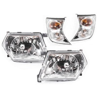 Nissan Patrol GU 97-07 Series 2 Clear LH+RH Headlights Corner Lamps Pair New Set