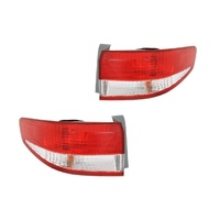 Honda Accord 02-06 CM-7 Ser1 Sedan Red & Clear LH+RH Set Tail Light Lamps Depo
