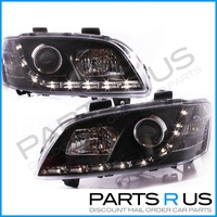 Holden VE Commodore & HSV Altezza LED DRL BLACK Headlights 06-10 ADR Projector